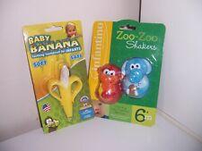 Baby Banana soft toothbrush zoo zoo shakers lot New