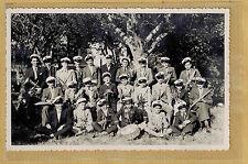Carte Photo vintage card RPPC jeunes hommes fanfare tambour trompette ph0319