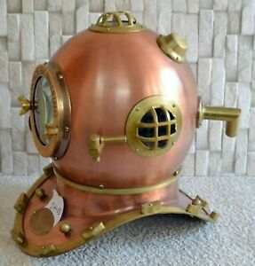 Antique Scuba Diving Marine Divers Anchor Engineering 1921 Maritime 18''Helmet