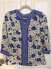 TALBOTS Petite Women 3/4 Sleeves Floral Top Size Petite  ~ NWT $89.50