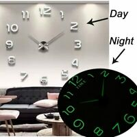 2020 Luminous DIY 3d Wall Clock Large Clock watch Horloge Acrylic Mirror Decor