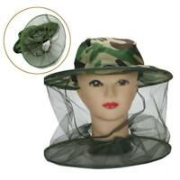 Outdoor Mosquito Resistance Bug Insect Bee Mesh Head Face Protector Cap Hat AE