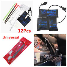 Portable 12x Car Door Key Lost Lock Out Emergency Opener Opening Repair Tool Kit