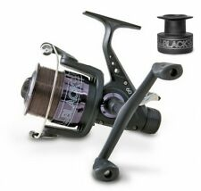 All Black 60 Baitrunner Carp Coarse Match Fishing Reel with Spare Spool & Line