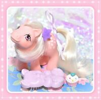 ❤️My Little Pony MLP G1 Vtg BABY Cotton Candy Pink Play and Care BEAR BRUSH❤️