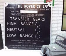 Land Rover Série 1 86 107 fin Lampe Boîte de vitesse boitier transfert