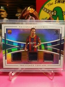 2020-21 Chronicles Treasured Threads #TT-LM Lionel Messi #025/299 Barcelona