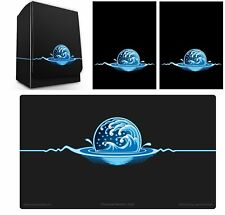 100ct Max Pro MTG Size Image Sleeves DeckBox Playmat ELEMENTAL ICONIC BLUE WATER