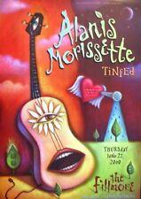 Alanis Morissette Fillmore Poster Tinfed F408 Original Bill Graham Alison Zwacki