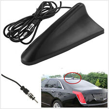 Black ABS Shark Fin Car Roof Radio AM/FM Signal Aerial Antenna With 6 Feet Wire