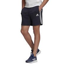 Adidas Short da Uomo Essentials French Terry 3-Stripes Blu Codice GK9598 - 9M