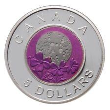 5$ Canada 2012 April Full Pink Moon BE, argent & niobium, silver & niobium PROOF