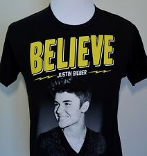 Justin Bieber t-shirt black medium 2013 tour BELIEVE