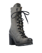 RRP €210 O.X.S. Leather Combat Boots EU 38 UK 5 US 7.5 Shearling Lining Treated