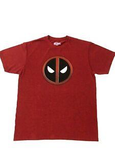 Deadpool Marvel Comics Logo T-Shirt  Avengers  X Men Universe Large Maroon Super