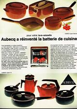 I- Publicité Advertising 1970 La batterie de cuisine poele faitout Aubecq