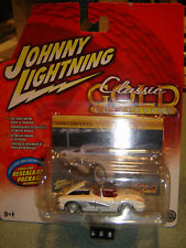 JOHNNY LIGHTNING CLASSIC GOLD series WHITE '58 Chevy Corvette 1/64 New