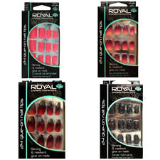 3 x Royal Cosmetics Connection 24 Full Coverage False Nail Tips With 3g Glue