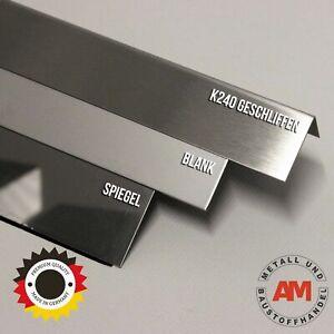 Edelstahl Winkel 2000 mm Lang Eckschutz Eckleiste Kantenschutz Kantschutz V2A VA