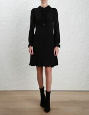 ZIMMERMANN PRIM DRESS, black, size 0