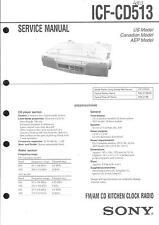 Sony Original Service Manual per ICF-CD 513