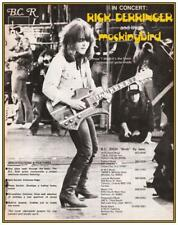 Rick Derringer  *POSTER*  B.C. Rich Mockingbird Guitars VERY EARLY Image BC