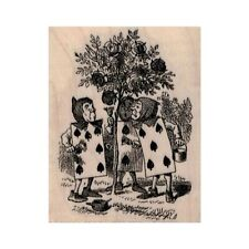 New The Playing Cards Rubber Stamp, Queen of Hearts Stamp, Alice in Wonderland
