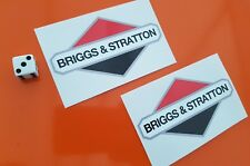 briggs and stratton decal stickers x 2 high quality vinyl 100mm x 55mm