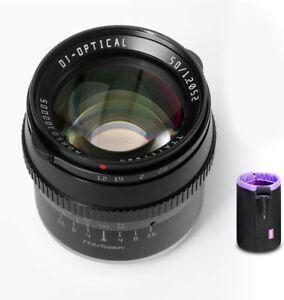 TTartisan 50mm F1.2 APS-C Manual Lens 10 Blades For Fuji X-A10 X-A2 X-T1 X-T3