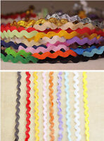 2-15yards ric rac / zig zag trim ribbon for crafting and creating multicolor