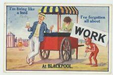 Living Like A Lord at Blackpool Comic Postcard, C050