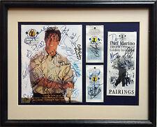 Dan Marino signed celebrity golf program ticket collage framed 40+ auto CBM COA