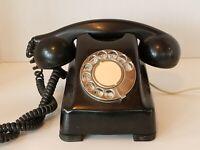 Vintage Kellogg Red Bar Rotary Telephone Black Switchboard