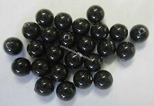 25 Swarovski Crystal Pearl Beads 4mm Bead Mystic Black Beading Jewellery SWK3405