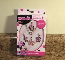 Disney Minnie Mouse Charm Bracelet Set 4 Charms New