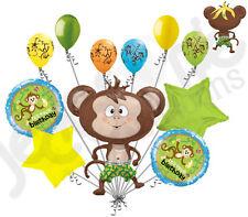 11pc Monkey Balloon Bouquet Decoration Jungle Barnyard Birthday Party Animal Fun