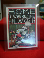 "Mary Engelbreit Music Box 5""x7"" Picture Frame Home Is Where The Heart Is"