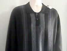 Chereskin Mens New XXL Blue Black  Sweater  100% Polyester