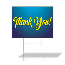 Weatherproof Yard Sign Thank You Outdoor Advertising Printing Blue Lawn Garden