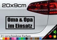 Oma & Opa im Einsatz Sticker Enkel Taxi Spruch Aufkleber Auto Kleber JDM 20x9cm