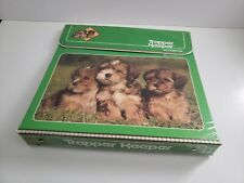Vintage Mead 1980s Trapper Keeper Dogs Puppies Green 80s Notebook 3-Ring Binder