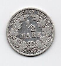Germany - Duitsland - 1/2 Mark 1906 A