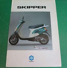 PIAGGIO SKIPPER 125 150 MOTO SCOOTER DEPLIANT BROCHURE LEAFLET PUBBLICITA