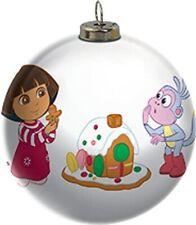 Carlton Magic Ornament 2015 Dora the Explorer Multi-Color Light Up Ball Cxor117H