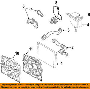 BMW OEM 08-10 528i Radiator-Upper Hose 17127546064