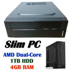AMD A6 9500 Dual Core Slim PC 4GB 1TB Radeon R5 Graphics HDMI DVI Computer