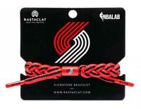 Rastaclat Basketball Portland Trail Blazers Away Braided Bracelet - Red & Black