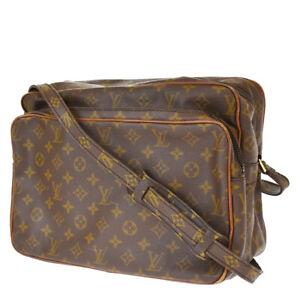 Auth LOUIS VUITTON Nile GM Shoulder Bag Monogram Leather Brown M45242 30MH266