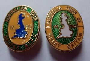 2 x 1990 AUSTRALIA KANGAROOS TOUR OF GREAT BRITAIN RUGBY LEAGUE PINS BADGES