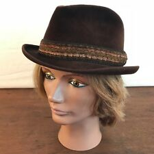Vintage Berg Fifth Avenue New York Velour Fedora Hat Mens Size Small CH5